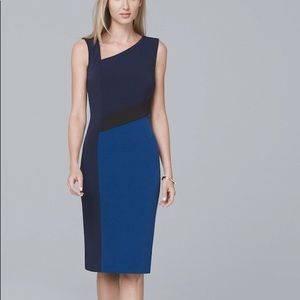 NWOT WHBM A-symmetrical SL Sheath Dress